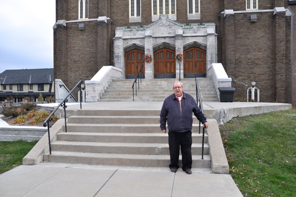 Georges Bouliane, the Parish Manager at St.George's Parish. Photo by Andrea Tomkins.