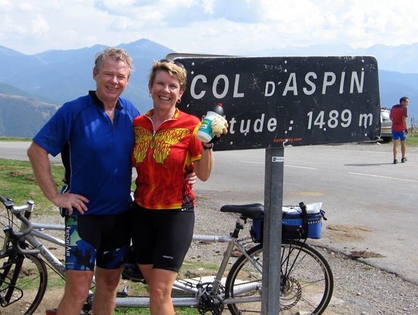 Ric and Joan Potter have cycled 50,000 km over the last 10 years.Photo courtesy Ric and Joan Potter