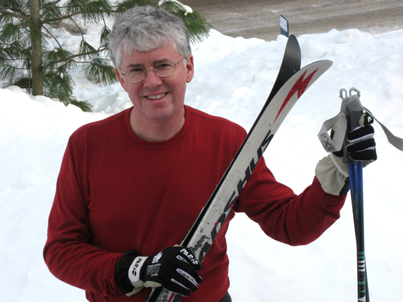 Cross-country skiing enthusiast Charles Hodgson devotes his energy to helping people understand and do something about climate change. Photo by Denise Deby.