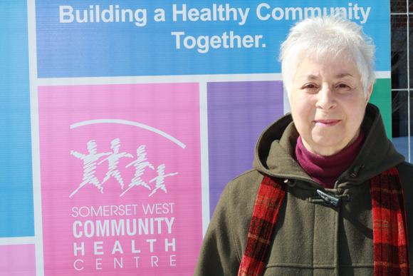 Priscilla Hudon, SWCHC client and Board Member, at the future Rosemount location. Photo by Anita Grace.
