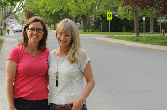 Former WVCA president Katie Paris and artist Jennifer Nicol are working together to make the Clarendon Avenue a little brighter. Photo by Anita Grace.