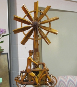 "Markey has had a lot of great finds over the years, but he says his ""top-of-the-list favourite"" is this elaborately carved whirligig built by Arthur Sauvé (1896-1973) of Maxville, Ontario."