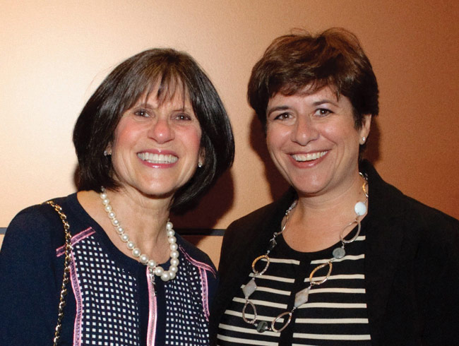 Sharon Appotive (left) the Women's Campaign Chair for the 2016 Annual Campaign, with Kitchissippi's Andrea Freedman, the President and CEO of the Jewish Federation of Ottawa. Photo by Howard Sandler