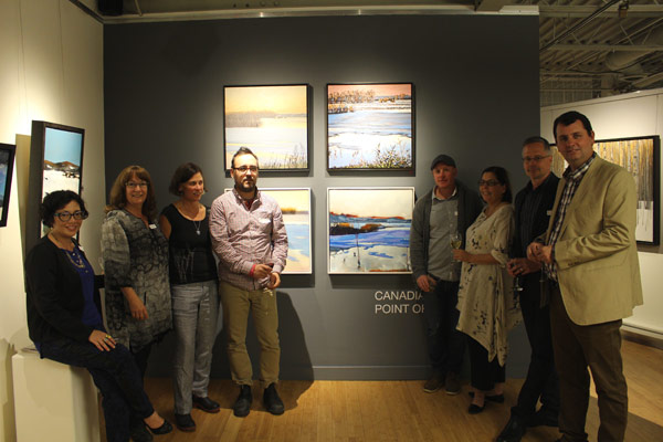 Left to right: Patricia Barr, Laurie de Camillis, Meredith Brown, Stewart Jones, Peter Rotter, Ruth McKlusky, David Lidbetter, and Edward Barr. Photo by Joseph Hutt