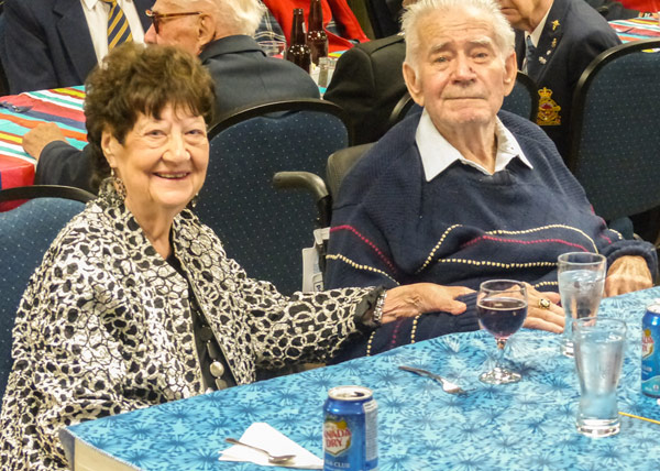 Sherry and Joe Thompson attended the dinner. Joe Thompson served for 27 years and currently lives at The Perley and Rideau Veterans Health Centre.