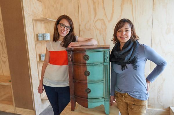 Malenka Originals owner Katrina Barclay with employee Christina Maal. Photo by Ellen Bond