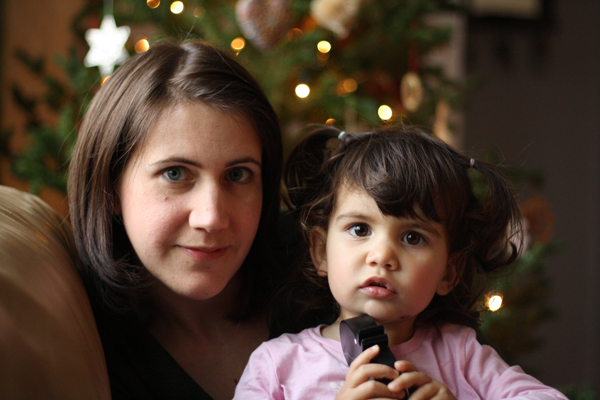 Anita Grace, pictured here with her daughter Miya, enjoys creating her own traditions around the holidays. Her story in the collection focuses on one that is special to her family.
