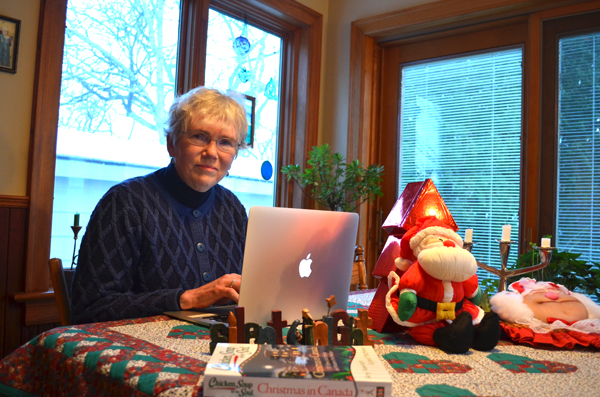Mary Ellen Kot is one of four area writers whose work was recently published in Chicken Soup for the Soul: Christmas in Canada. Photo by Jack Lawson.