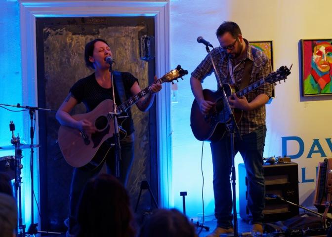 Juno Award winner Holly McNarland performs.
