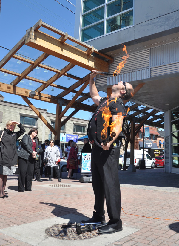 "Performers of all kinds – musician, acrobats, ""fire artists"" – will fill up the street between Golden Avenue and the Superstore. Photo by Andrea Tomkins"