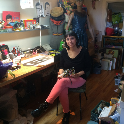 Alison Smith-Welsh in her Hintonburg home studio. Photo by Andrea Stokes