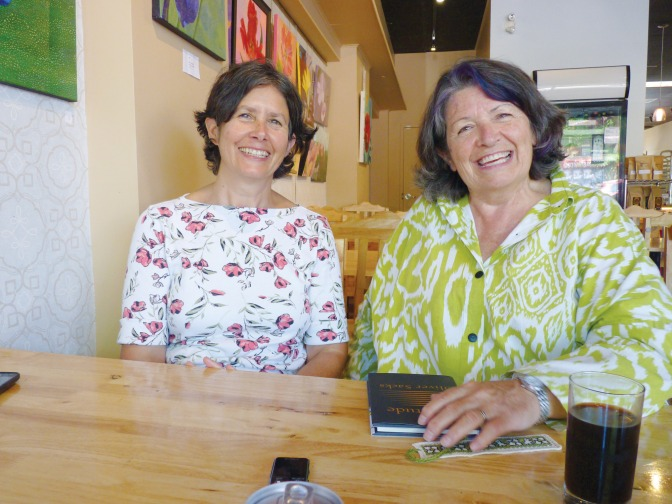 Wendy Robbins and Trudy Medcalf, facilitators of a seminar called Aging by the Book.