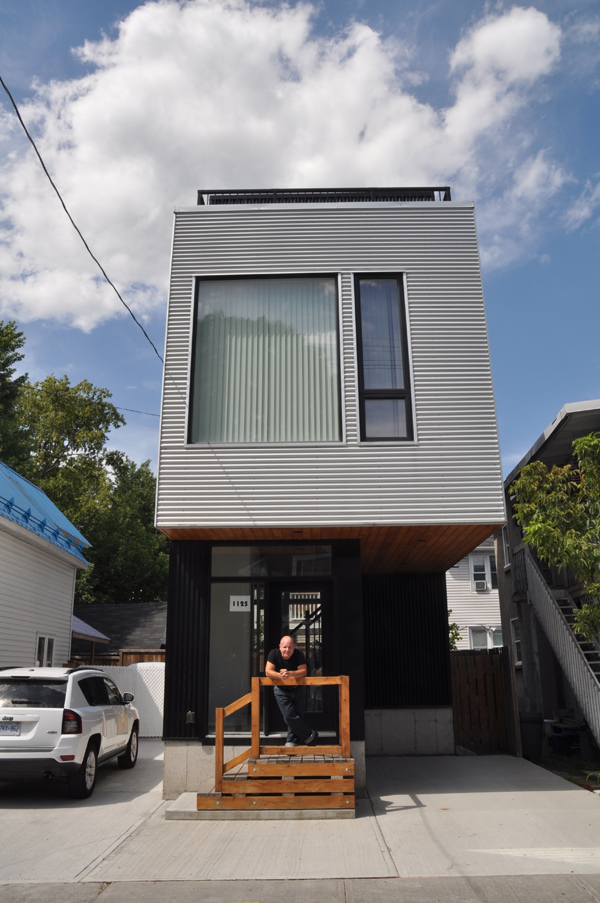 Don LaFlamme is the owner of a modern infill home at 1125 Gladstone Avenue. It's been a work in progress since 2011. Photo by Andrea Tomkins