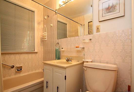 The bathroom, before