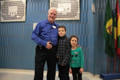 OFC co-founder Jim McNeill with grandkids Zoe, 5 and Noah, 9. Noah has already joined the next generation of OFC volunteers. Photo by Jacob Hoytema