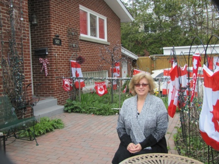 Helen Sauter decorates her home at 587 Dovercourt Ave. for all the major holidays. This year she's included Canada Day. Photo by Shaun Markey