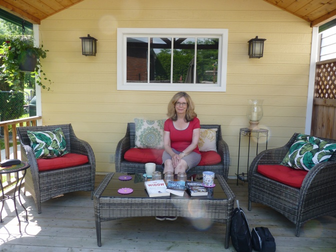 Brenda Chapman at her home garden in Westboro.. Photo by Judith van Berkom