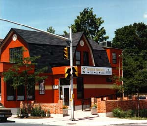 The building in 2002 when it was the Amber Garden.