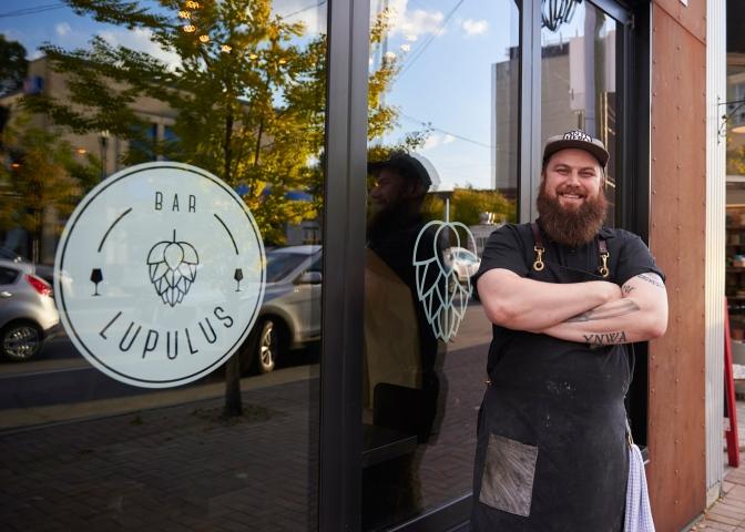 Co-owner of Bar Lupulus, Jeff Bradfield. Photo by Ellen Bond