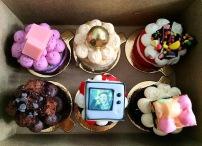 Mini cakes from a Willy Wonka series. Photo by Alix Corey (@trixxielixxie on Instagram)