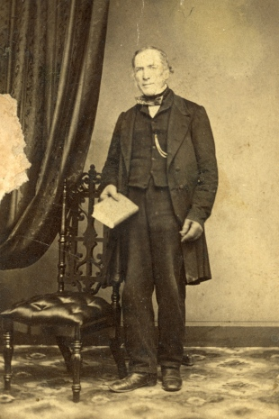 """A never-before published photo of Joseph Hinton, circa 1870. """"I've done a LOT of digging to unearth these photos,"""" writes Dave Allston. """"None have ever been published before, and this is really the first time a face will be put to the namesakes of Hintonburg."""" Photo CA-18894 courtesy of the City of Ottawa"""
